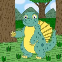 Shyler the young Edaphosaurus by MCsaurus