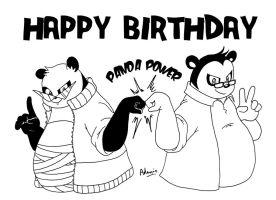 Happy birthday Panda by adamis