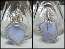 Blue Lace Agate in Argentium by Zorias