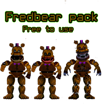 Fredbear pack by NightmareFreddy05