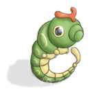 Caterpie Speedpaint by Kalietha
