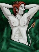 Valen under Green Sheets by Mythtress