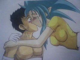 Tenchi and Ryoko-Kiss-in prog by DREVTHAM