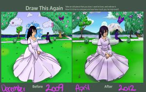 Draw this again- flowers and dresses by Sucki-Artist