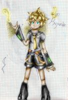 Colored Sketch: Len Kagamine by Anaisabel22