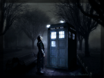 Loki and the Tardis - Street Corner by Narryaque