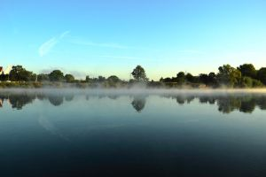 Mist on the River by Ceneij