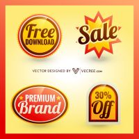 Sale Badge Free Vector by vecree