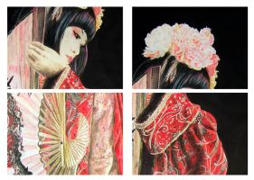 Finished Geisha Details by TanjaLouiseArtist