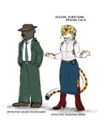 Concept - Detectives Kreiz and Shoemaker by Drake-TigerClaw