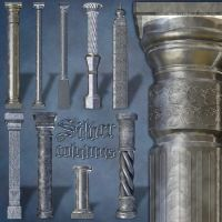 Silver Columns by LucieG-Stock