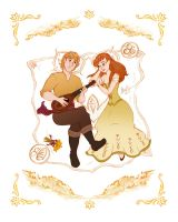 Anna and Kristoff - For the 1st time in Forever by alexanderbim