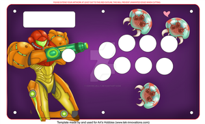 Metroid fight stick commission by coffeejelly