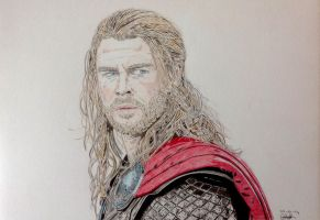 Thor (Chris Hemsworth) by Albertinez