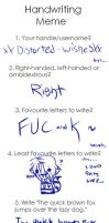 Handwriting Meme -.- by xXDistorted-WishesXx