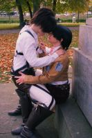 Rivaille/Levi x Eren [Attack on Titan] by JuubeiChan
