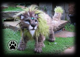 SOLD Izar the sacred forest lion poseable art doll by CreaturesofNat