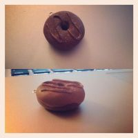 Double chocolate doughnut charm by Mechyx