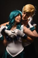 Sailor Neptune and Sailor Uranus by saindonienne