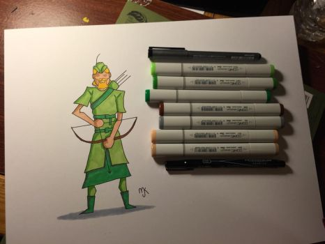 Green Arrow by multieyedmyr