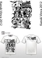 Design 1 Black and White version by Vinca
