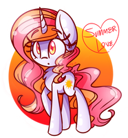 Summer Love art trade! by Lemon-Heartss