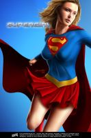 Josie Maran as Supergirl by iskandarsalim