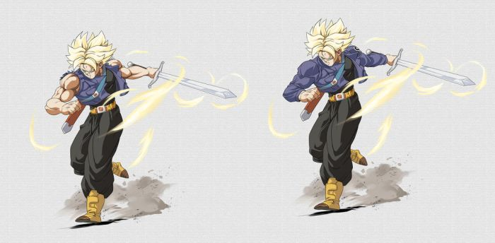 Stream Commission-Trunks ssj with sword by PhantomStudio-Tommy