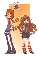 Ron+Hermione by yllya