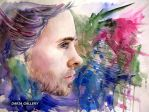 jared leto watercolors by DariaGALLERY