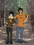 Percy Jackson and Nico by ArtBySabinaE