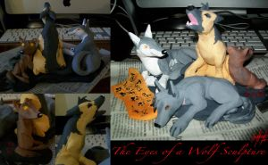 The Eyes of a Wolf Sculpture by AmmyWolf95
