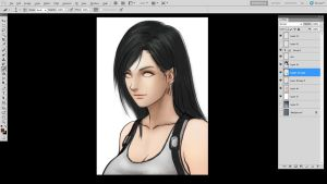 Tifa Lockhart Portrait WIP by borjen-art