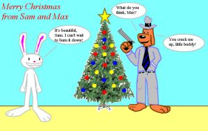 A Sam and Max Christmas by StrongBrush1