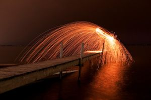 Wire wool shower by shayne-gray