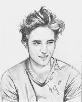Robert Pattinson Portrait by CrasyK