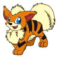 Growlithe by brushflames