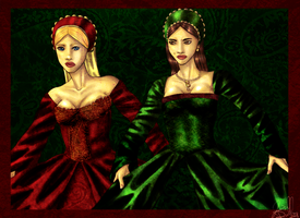 The Boleyn Sisters by les-ailes
