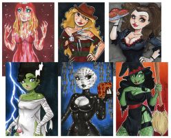 Halloween Holiday Honeys by dsoloud