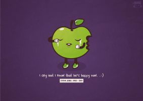 happy apple - RIP steve jobs by NOF-artherapy