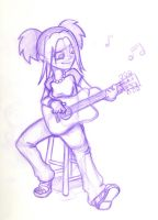 Courtney's Guitar by captainsponge