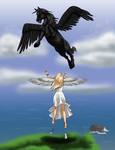 The Lady and the Pegasus part 2 -- Commission by Zareefa-Arts