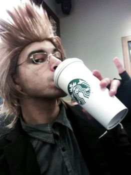 drinking starbux ignis? by shikamaruluffy