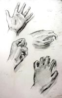 Drawings of my Hand by NitTata