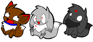 Loff Eevees by pupom