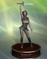 Action Figure: Barbarian Warrior by cyanthree