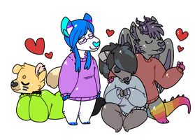 Chibis by pitbullie