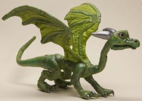 Baby Dragon Soft Sculpture 2 by The-GoblinQueen