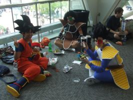 Goku, Vegeta, and Raditz by SharinganWarrior77