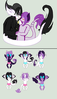 SNWBH 1 : BlueHeart x  Blackmail Flower foals :3 by karsisMF97